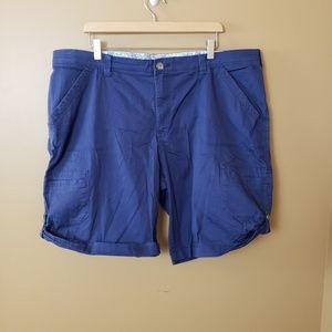 Lee Comfort Waist 22W blue shorts